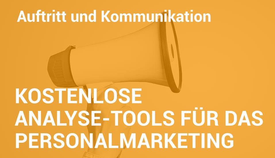 Employer Branding Campus-Seminar - Kostenlose Analyse-Tools für da Personalmarketing